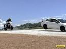 Yamaha MT-09 vs. Subaru WRX STI in Franciacorta