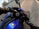 Yamaha R1 Crash im Kreisel, Blickführung und ein Tick zu schnell ...