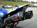 Yamaha R1 mit Devil Auspuffanlage