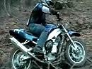 Yamaha R1 Dirtbike Enduro Offroad im Gelände, Qualm ohne Ende