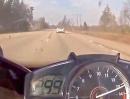 Yamaha R1 VS Mercedes SL63 AMG bis 300km/h dann ist Schicht