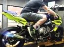 Yamaha R1M mit Arrow Exhaust Dynorun by EDR Performance