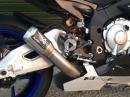 Yamaha R1M mit Austin Racing GP1R Full Titanium System - Entenpelle