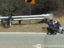 Yamaha R6 Lowsider - Snake Crash - nix passiert, Fahrer fuhr weiter