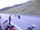 Yamaha R6 von 220 km/h zum Stillstand ohne ABS