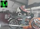 Yamaha RD250 Dynorun, Soundcheck - die Bude zugequalmt