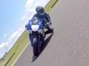 Yamaha YZF R1 von vorne gefilmt onboard Presselaunch