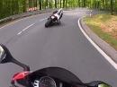 Zollbuche, leichtes Angasen mit Ducati 1199, Honda CBR1000RR