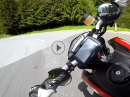 Zügiger Sonntags-Ausritt: Seebergsattel / Jezerski (Slo) Ducati Hypermotard SP Full Termignoni
