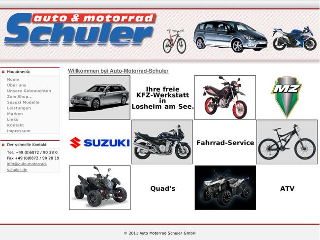 auto motorrad schuler gmbh in losheim am see motorradh ndler. Black Bedroom Furniture Sets. Home Design Ideas