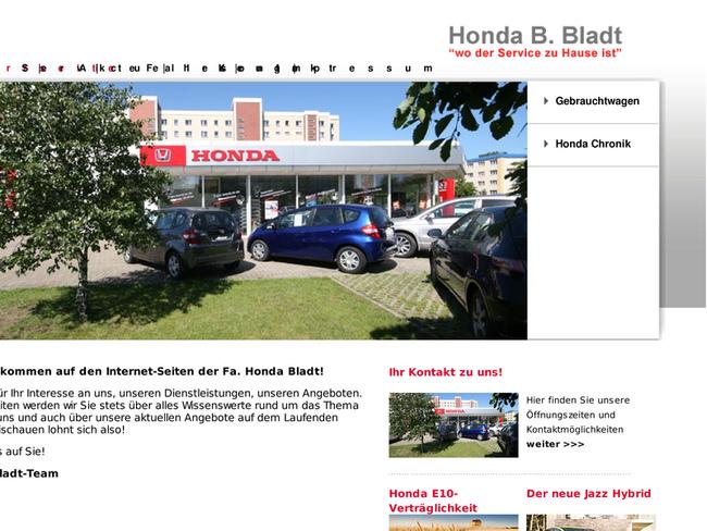 Autohaus B. Bladt in Stralsund - Motorradhändler