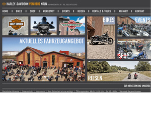 harley davidson vertretung von herz gmbh in k ln. Black Bedroom Furniture Sets. Home Design Ideas
