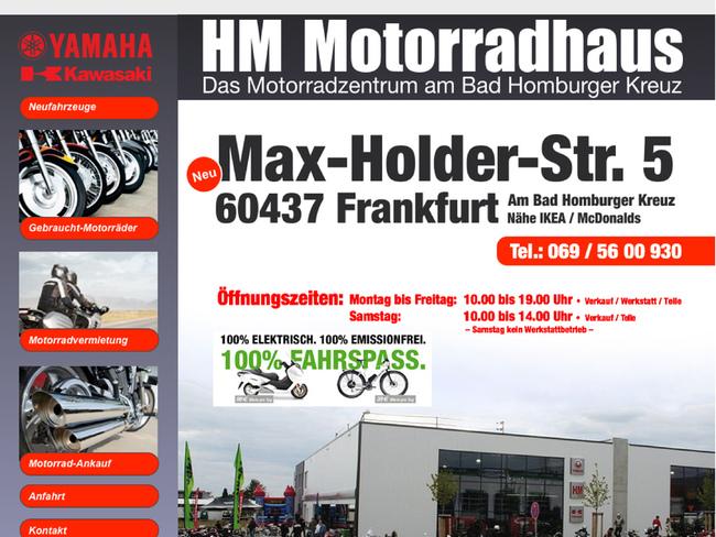 h m motorradhaus in frankfurt am main motorradh ndler. Black Bedroom Furniture Sets. Home Design Ideas