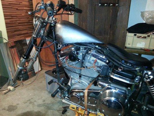Bild Harley Davidson Shovelhead Bobber von Chevy1340